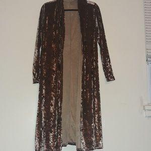 A brown/bronze velvet Cardigan